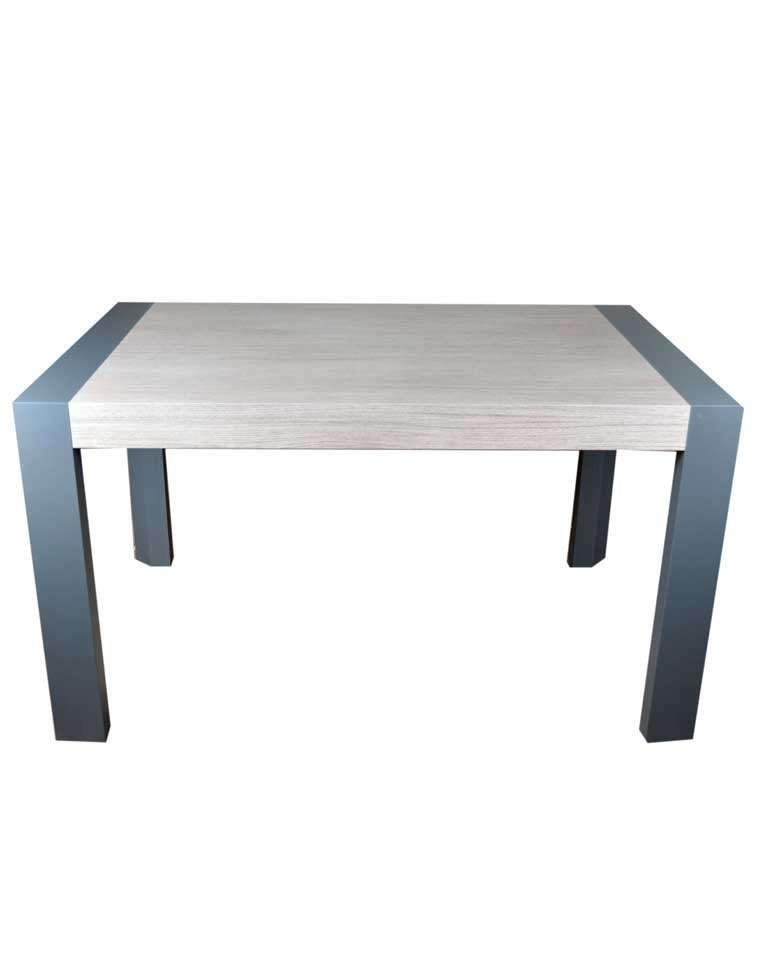 Table de salle manger graphite et ch ne 150x60cm casa for Table salle a manger chene