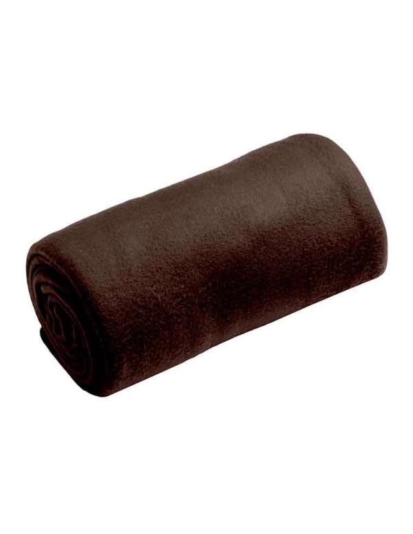 Plaid HARMONIE 130X160CM Couleur Chocolat