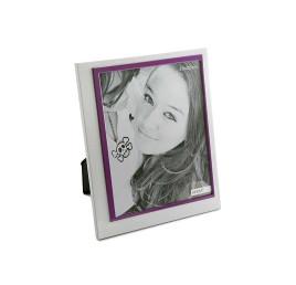 Cadre photo blanc et violet