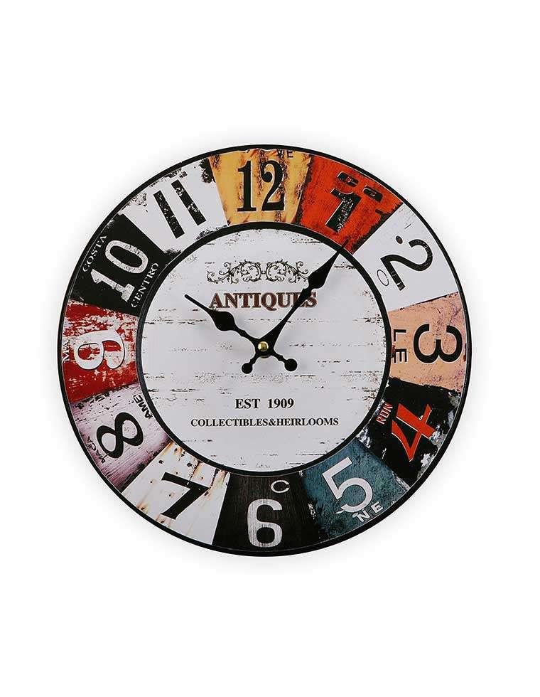 Horloge Murale R Tro En Bois 29cm Casa Square