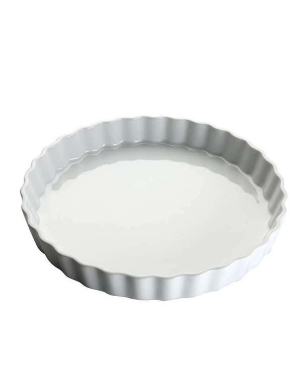 Moule à tarte blanche 28cm en porcelaine