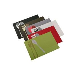 Set de 4 pieces de table imprimé (plusieurs coloris)