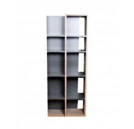 Bibliothèque graphite/chêne MODULE 150X60cm