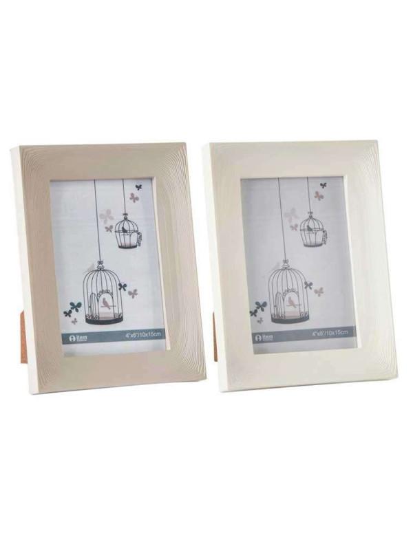 Set de 2 cadres photos effet bois 10x15 cm