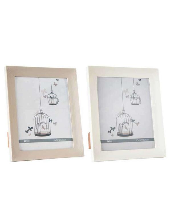Set de 2 cadres photos effet bois 20x25 cm