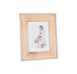 Cadre photo en bois effet naturel 23x28 cm