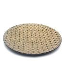 Plat rond doré design GÉOMÉTRIK en résine 40 cm