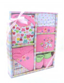 Coffret vêtements bébé rose (0-3 mois)
