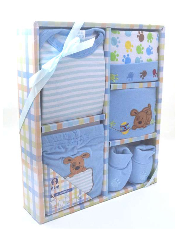 Coffret vêtements bébé bleu (0-3 mois)