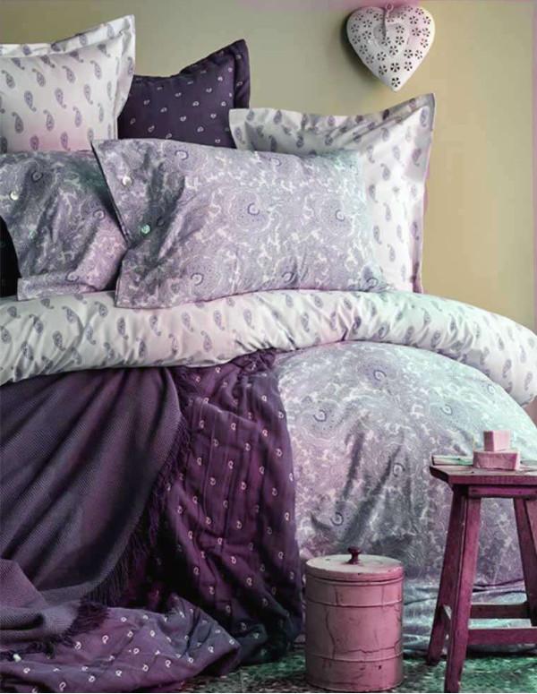 PURELINE Set de lit double prune 200x220cm