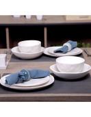 Service de table ORGANIC 24piéces blanc en grés