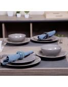 Service de table EGE 24piéces gris en grés