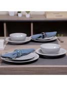 Service de table EGE 24piéces gris clair en grés