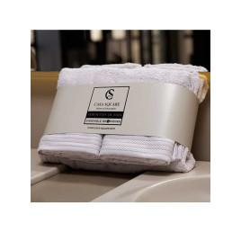 Set de 4 serviettes de bain Gris doux
