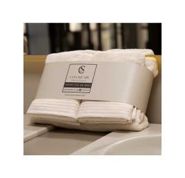 Set de 4 serviettes de bain beige