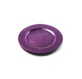 Assiette plate violet en bambou
