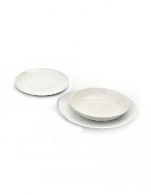Service de table 11 pièces PEARL blanc