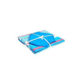 Nappe en coton 150x225cm avec 6 serviettes bleu