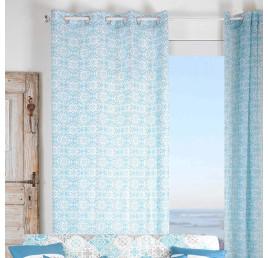 Rideau LISBOA bleu 135 x 260 cm
