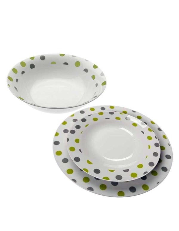 Service de table TRUFFAUT 13 pièces vert