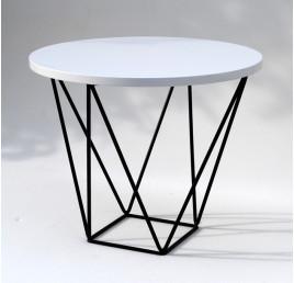 Table Basse ronde PYRAMIDALE en métal noir