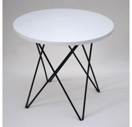 Table Basse ronde TRAPEZE en métal noir