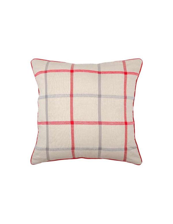 Coussin PURPY rouge en coton 50 x 50 cm