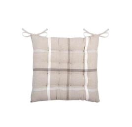 Galette de chaise PURPY taupe en coton 40 x 40 cm