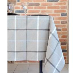 Nappe PURPY taupe en coton 150 x 250 cm