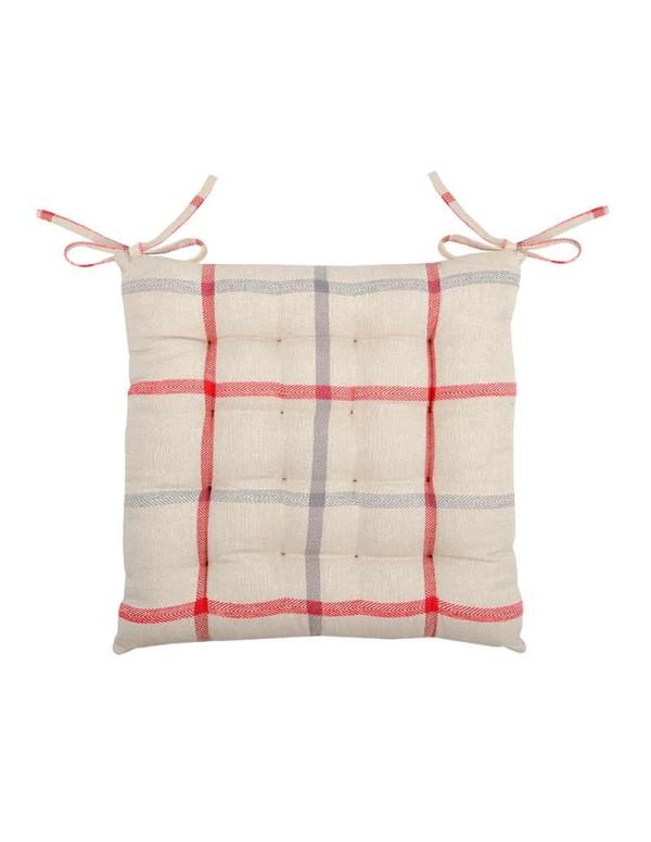 Galette de chaise PURPY rouge en coton 40 x 40 cm