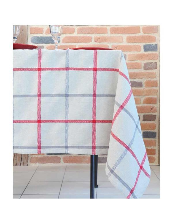 Nappe PURPY rouge en coton 150 x 250 cm