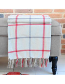 Plaid PURPY multi-couleurs en coton 130 x 150 cm