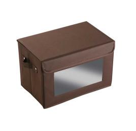 Petite boite de rangement marron avec fenêtre 38x25cm