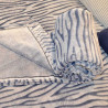 Couverture 2places 240x240cm bleu et blanc