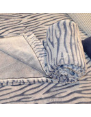 Couverture 1place 180x240cm bleu et blanc