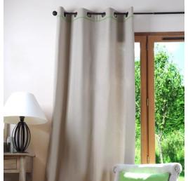 Rideau DUO 135 x 250 cm lin et vert