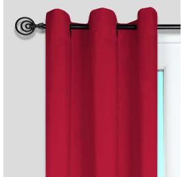 Rideau NELSON 135X240 cm rouge