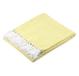 Plaid coton IKATI 125X150 cm jaune