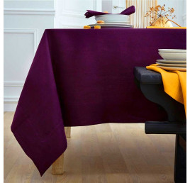 Nappe NELSON 145X300 cm aubergine