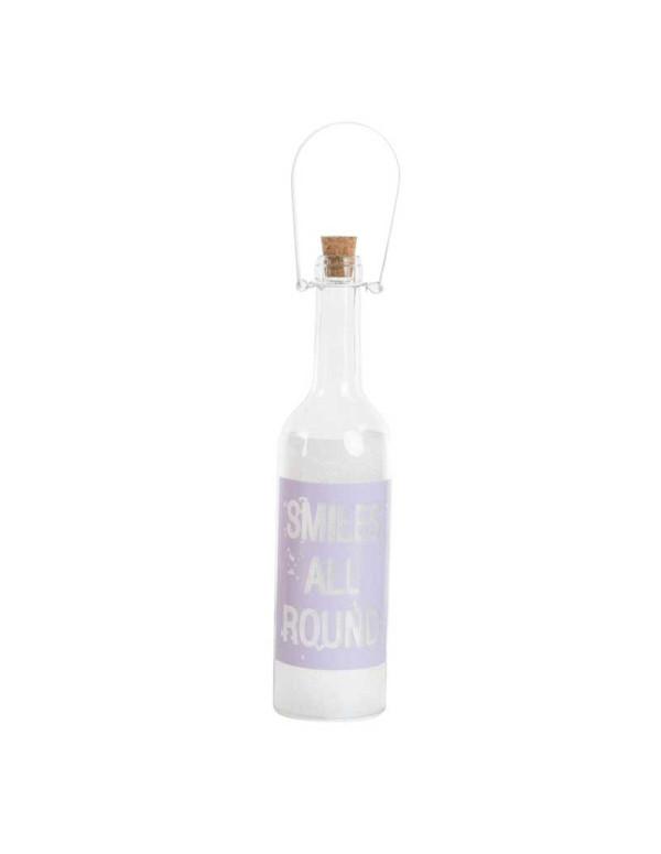 Bouteille LED en verre SMILE 7,5X28 cm violet