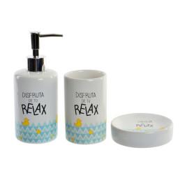 Set de 3 accessoires de salle de bain RELAX DUCK en bleu