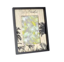 Cadre photo BLACK PARADISE en bois 10X15 cm noir