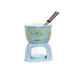Fondue au chocolat bleu en grès FONDUE 10X13 cm