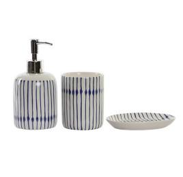 Set de 3 accessoires de salle de bain LINES en porcelaine