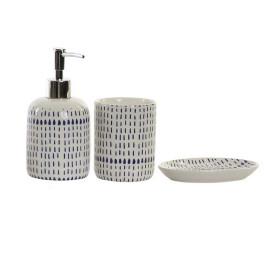 Set de 3 accessoires de salle de bain DOTS en porcelaine