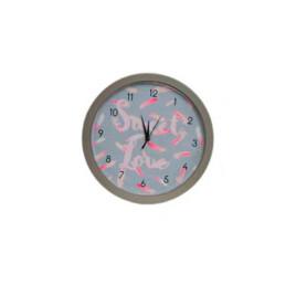 Horloge murale gris SWEET LOVE 25 cm