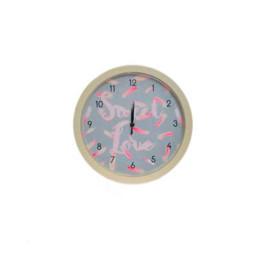 Horloge murale beige SWEET LOVE 25 cm
