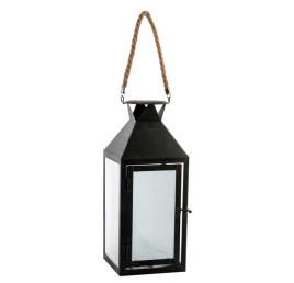 Lanterne LED noir en métal 12X30,5 cm