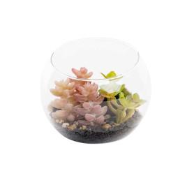 Pot à fleurs transparent 9X9 cm