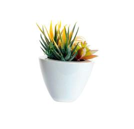 Plante artificielle céramique 13X20 cm avec pot blanc